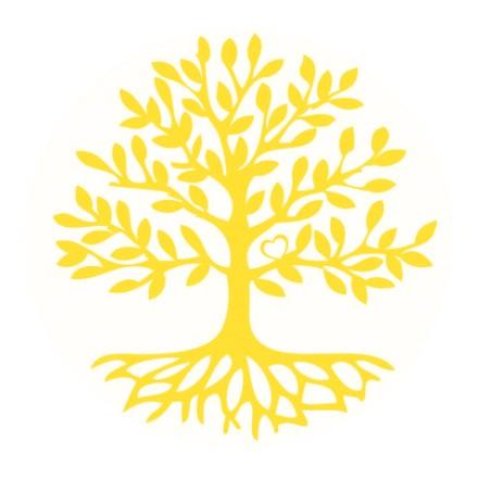 Aufkleber Baum Des Lebens 1x7 5cm Und 4x3cm Incl Postkarte
